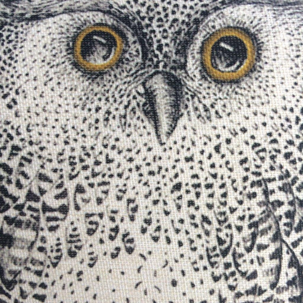 Barn Owl | Pillow Cover | Drawing of an Owl | Throw Pillow | Home Decor | Wilderness | Owl Print