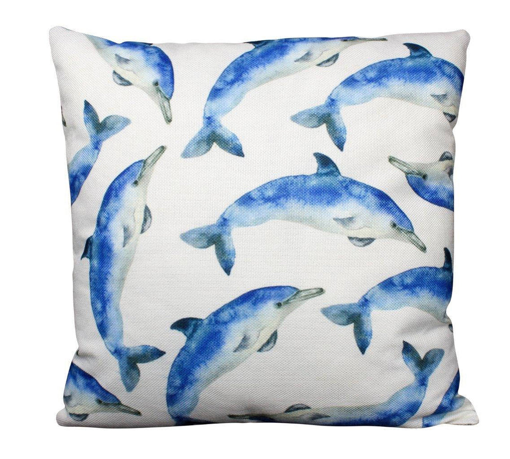 Dolphin | Pillow Cover | 18 x 18 | Ocean | Throw Pillow | Home Decor | Modern Coastal Decor |Pillow