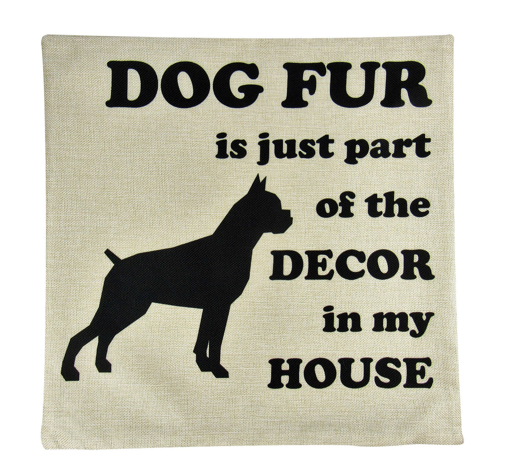 Dog Fur | Pillow Cover | Dogs | Home Decor | Dog Mom | Boxer Dog | Dog Lover | Boxer | Room Decor | Gift for her | Bedroom Decor | Pillow