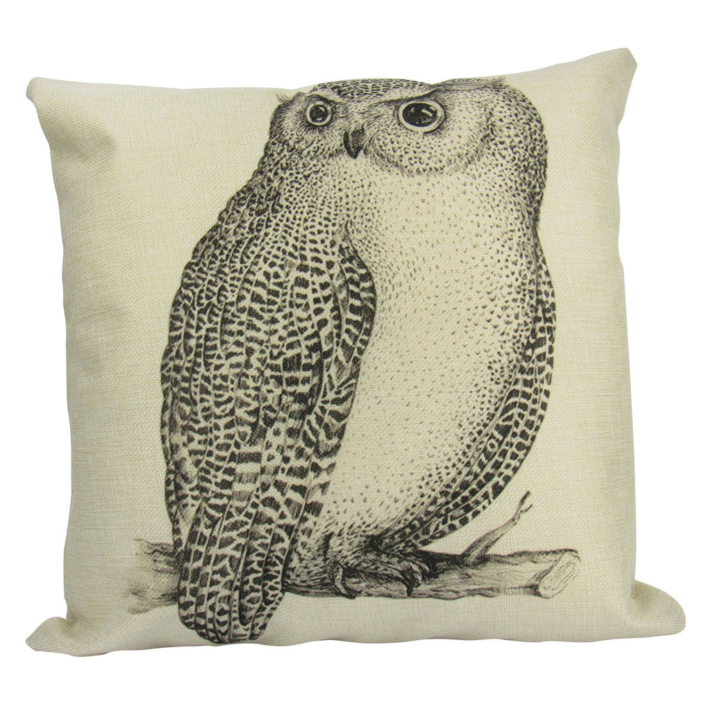Owl Gifts | Pillow Cover | Owl Drawing | Throw Pillow | Home Decor | Wilderness | Owl | Country Decor | Aesthetic Room Decor | Gift For her