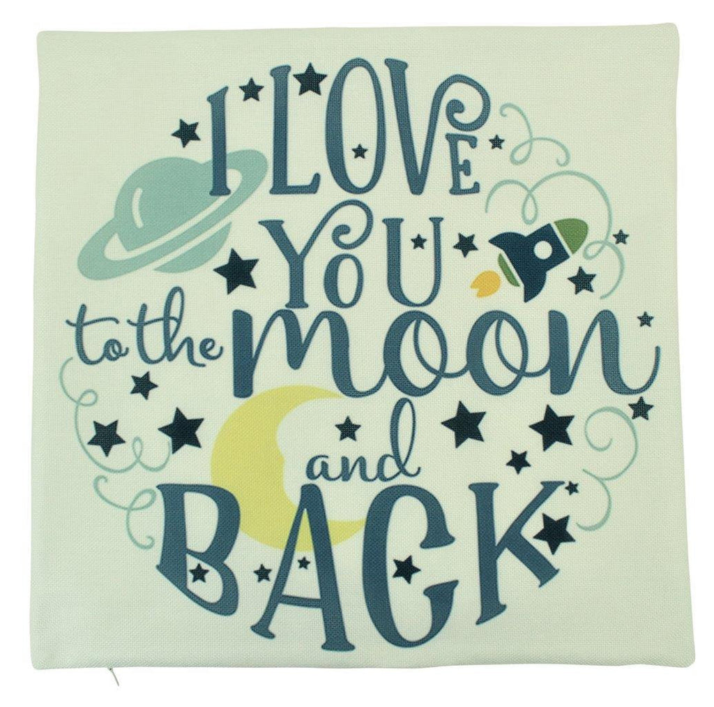 I love You to the Moon and Back | Pillow Cover | Home Decor | Throw Pillow | Rocket Pillow | I Love