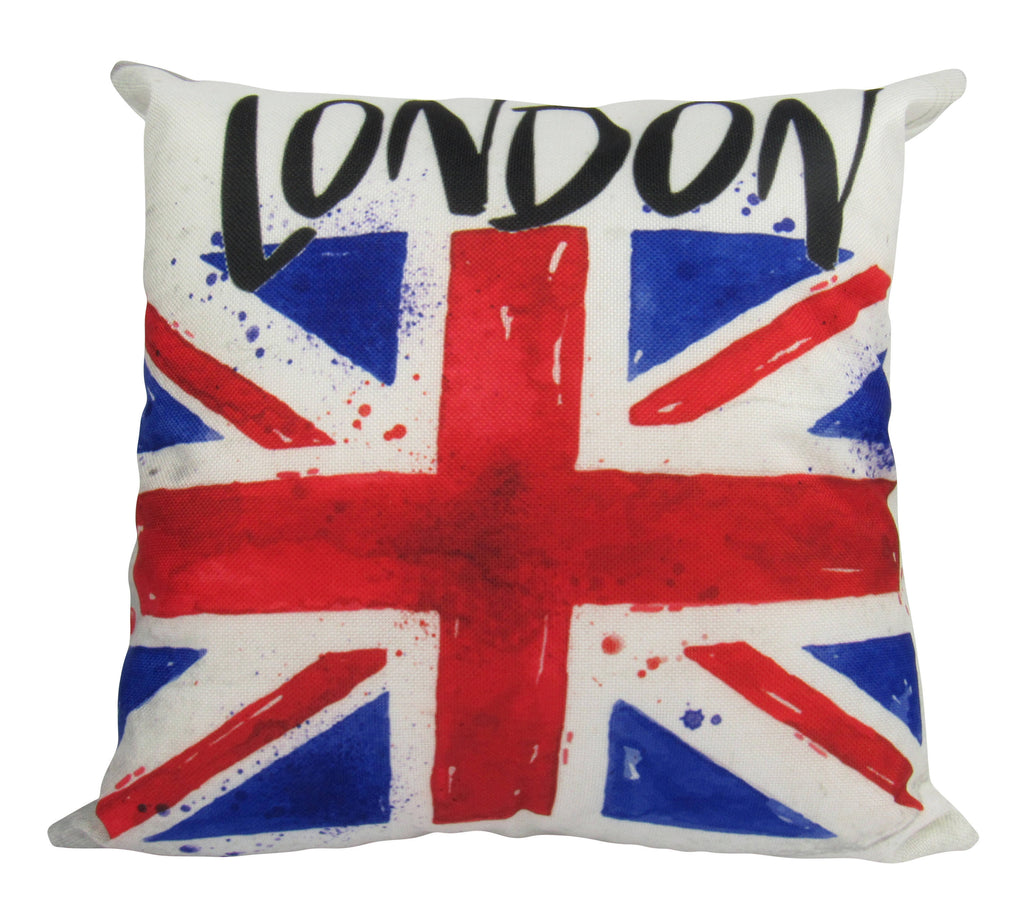 London | Pillow Cover | UK Flag | Throw Pillow | Home Decor | Union Jack Pillow | Vintage Pillow