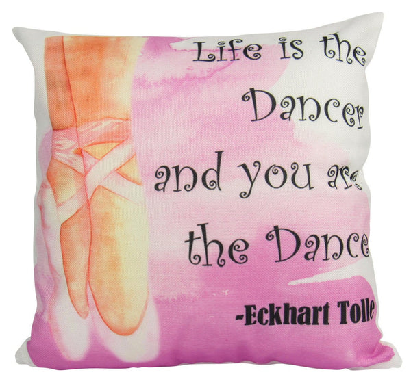 Life is the Dancer and you are the Dance | Pillow Cover | Ballerina Flats | Throw Pillow | 18 x 18 |