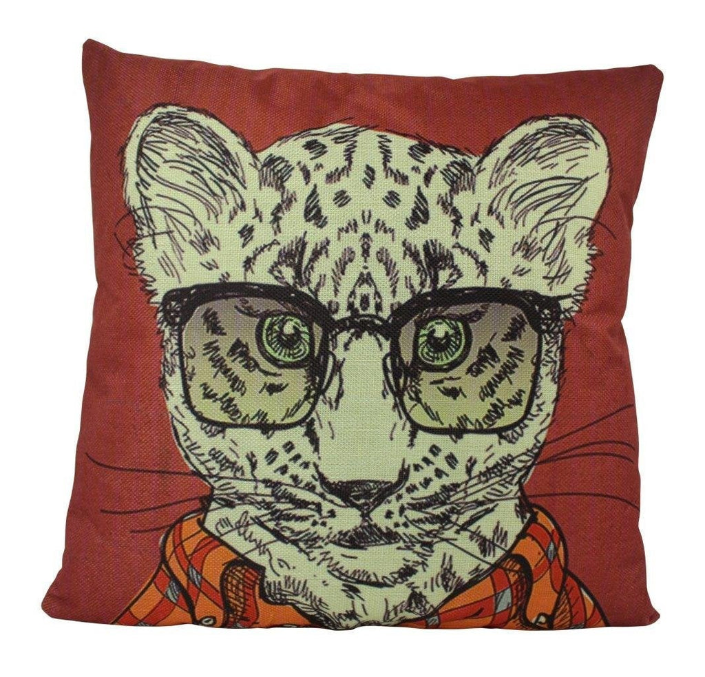 Leopard Hipster | Pillow Cover | Throw Pillow | Home Decor | Designer Pillows Online | Design Accents Pillows | Home Accent Pillows | Gift
