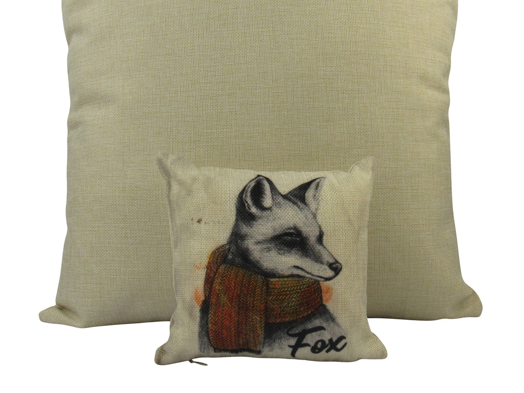 MINI: Fox | Pillow | Fox Decor | Throw Pillow | Wilderness | 8 x 8 | Forest Animal | Animal Lover