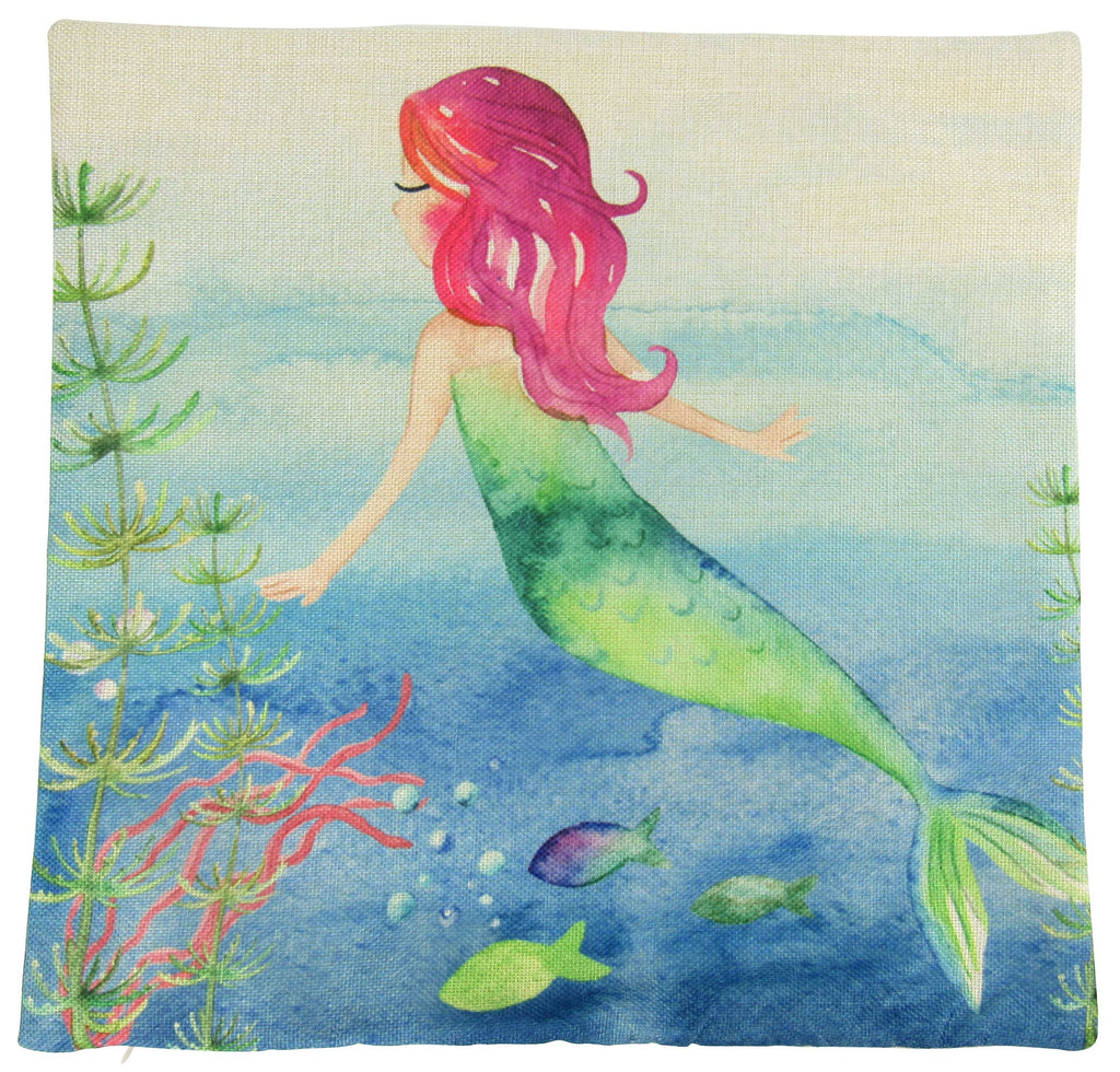 Mermaid Floating 2| Pillow Cover | Mermaid | Throw Pillow | Mermaid Pillow | Girls Gift | Mermaid