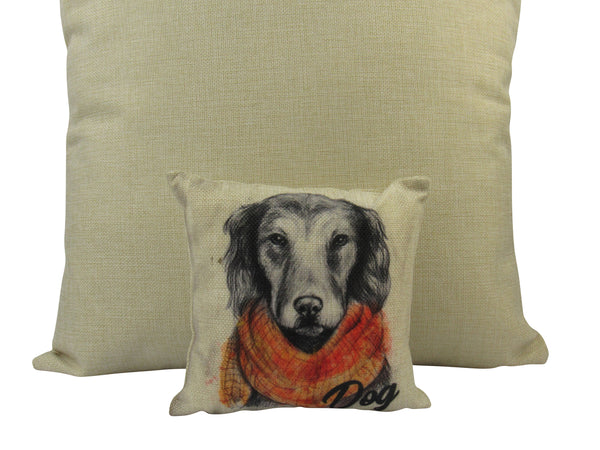 MINI Pencil Sketch Dog | Cover and Insert | Gift for Dog Lover | Throw Pillow | Home Decor | 8 x 8