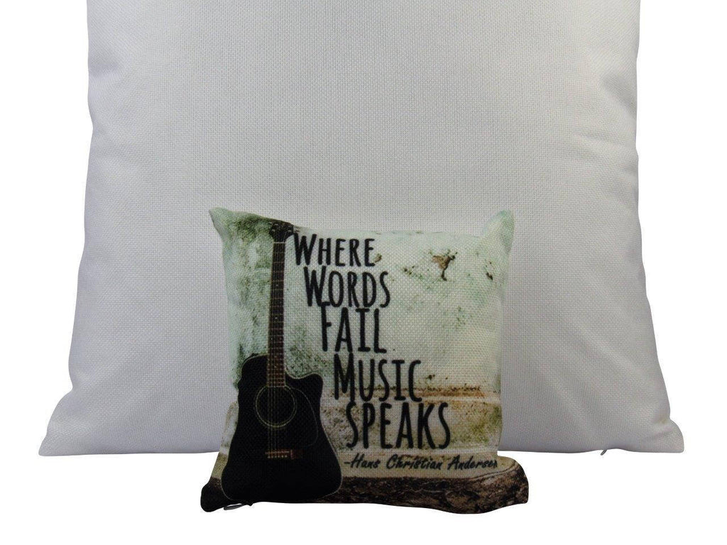MINI: Music Lover | Where Words Fail Music Speaks | Pillow | Home Decor | Throw Pillow | Gift