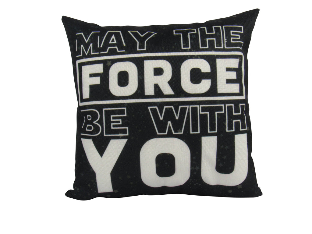 MINI: The Force is with you | Cover and Insert  | Movie Pillow | Wars Pillow | Boys Gift 8 x 8 | Tiny House Decor | Lumbar Pillow