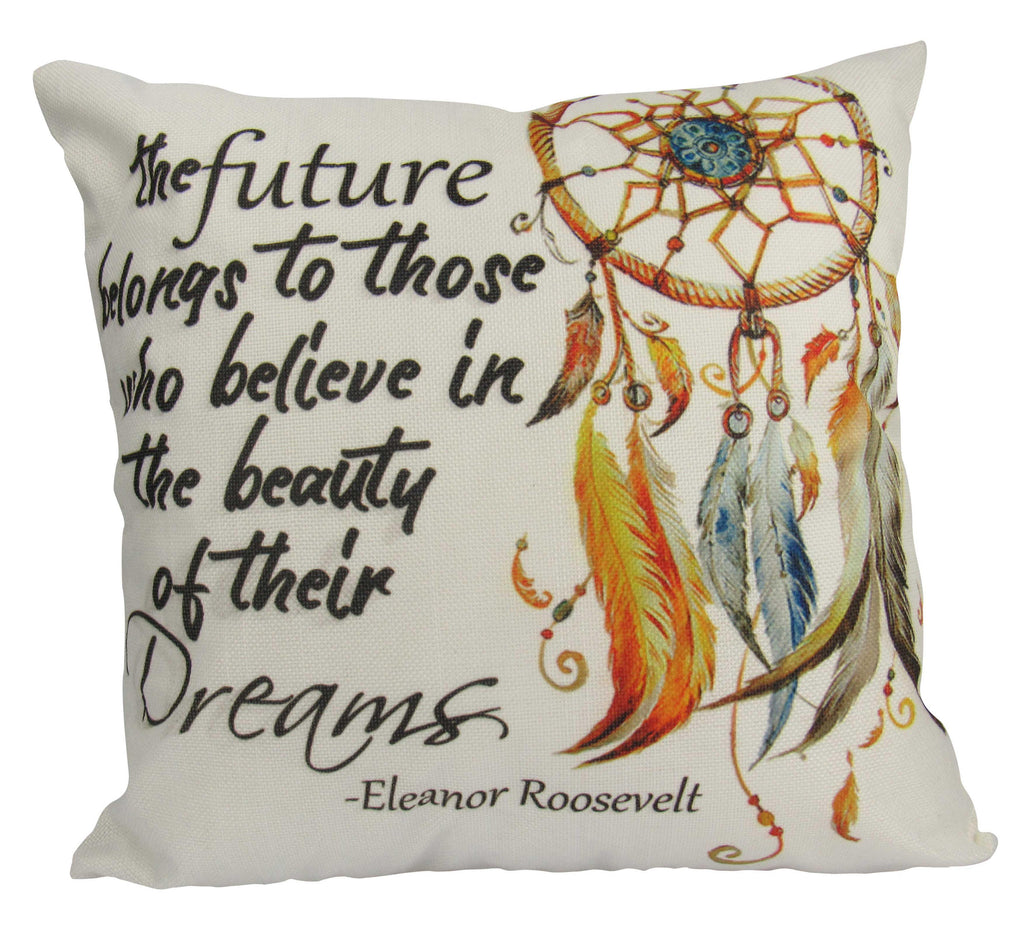 The future belongs | Pillow Cover | Throw Pillow | Graduation Gifts for her | Eleanor Roosevelt | Famous Quotes | Motivational Quotes