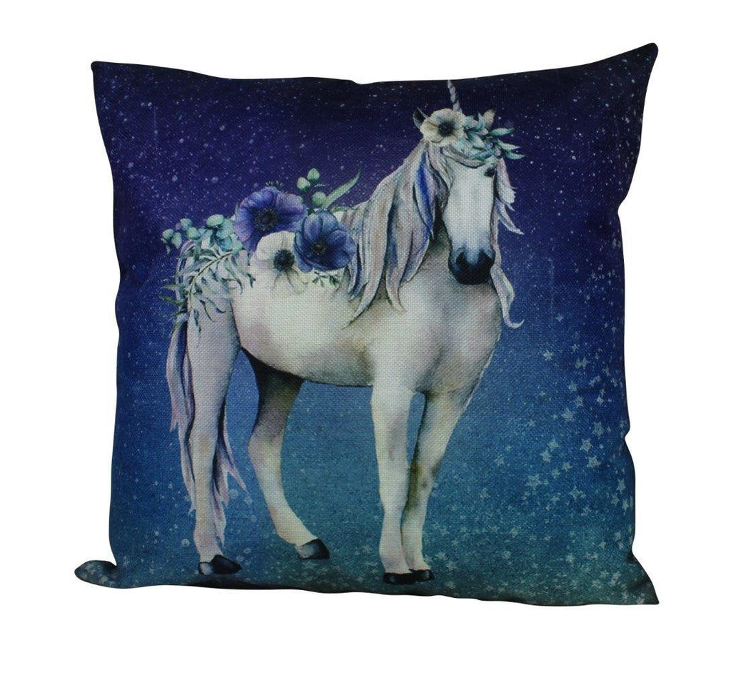 Unicorn Floral Pillow Cover | Believe in Unicorns| Throw Pillow | Girls Gift | Home Decor | Unicorn Pillow