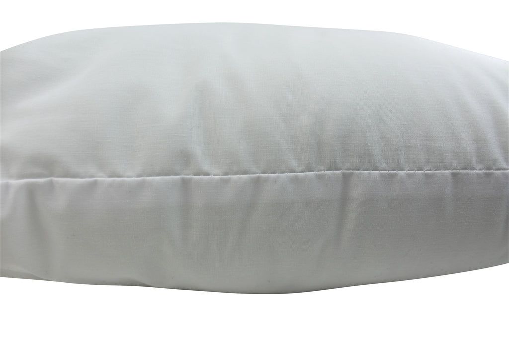 Hypoallergenic Polyester Filled Cotton Cover Pillow Insert | 12x12 | 14x14 | 16x16 | 18x18 | 20x20