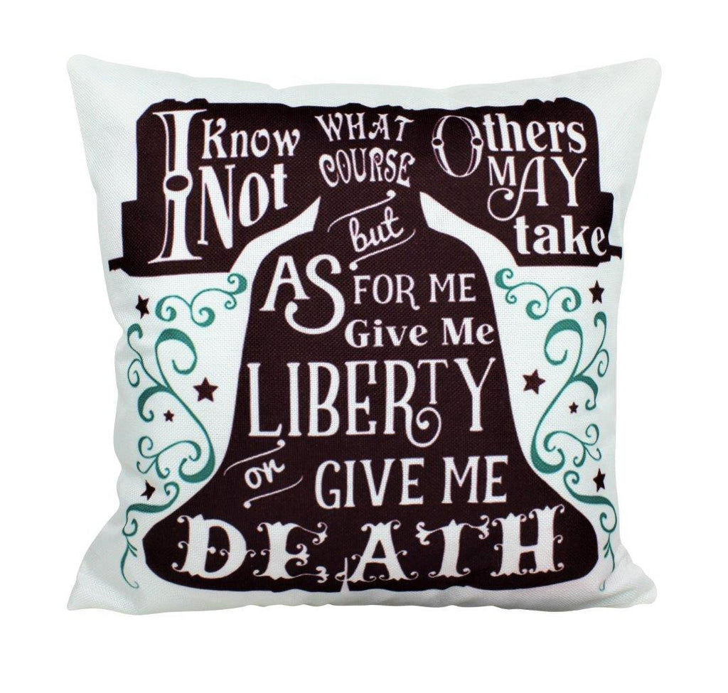 Give me Liberty or Death Pillow Cover | America Throw Pillow | Home Decor | Freedom Pillow | Farmhouse Decor | Throw Pillows | Room Decor