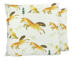 Fox | Pillow Cover | Fox Decor | Throw Pillow | Wilderness | 18 x 18 | Forest Animal | Animal Lover