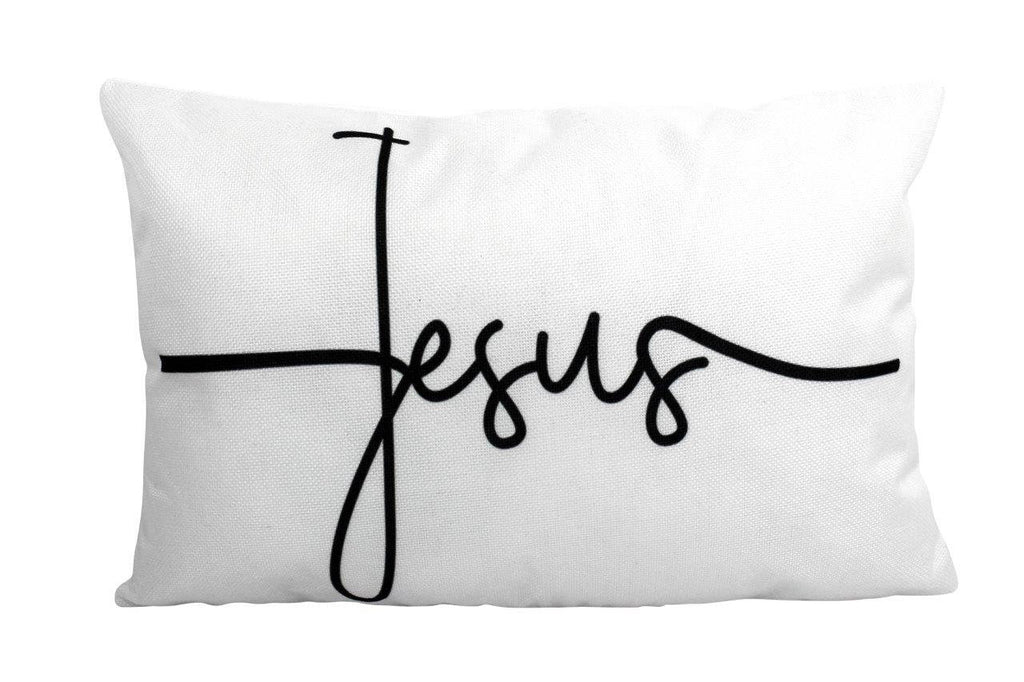Jesus Pillow Cover | Gospel Pillow | 12x18 Pillow cover | Home Decor | Primitive Decor | Rustic Farm | Farmhouse Decor | Throw Pillows
