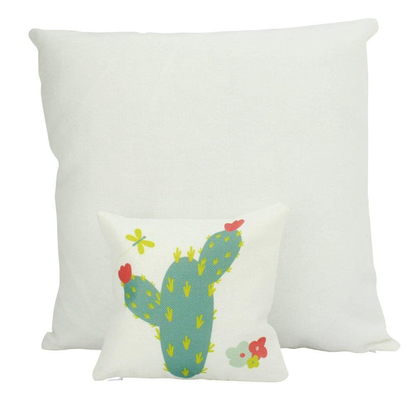 MINI Green Cactus | Pillow Cover | Good Vibes Only | Cactus Pillow | Positive Vibes | South Western