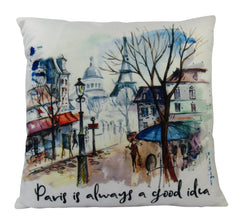 Audrey Hepburn | Paris is always a good idea | Pillow Cover | 18 x 18 | Throw Pillow | French | Home