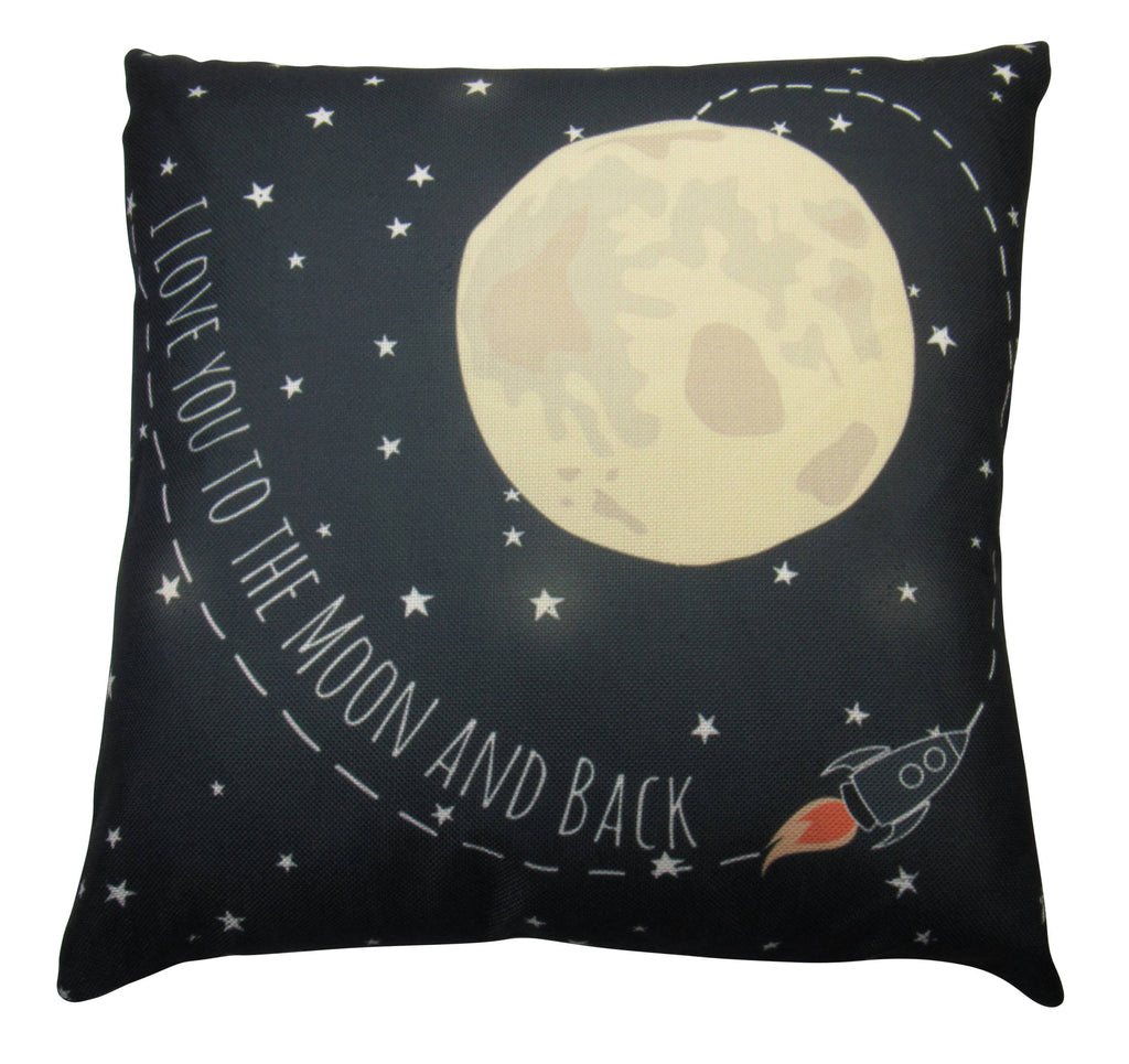 I love You to the Moon and Back | Pillow Cover | Home Decor | Throw Pillow | Famous Quotes | Motivational Quotes | Bedroom Decor