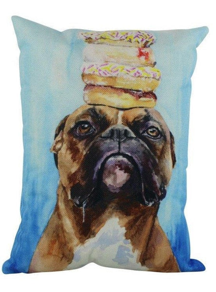 Boxer Watercolor | Pillow Cover | Dogs | Home Decor | Custom Dog Pillow | Dog Mom | Boxer Mom |Boxer