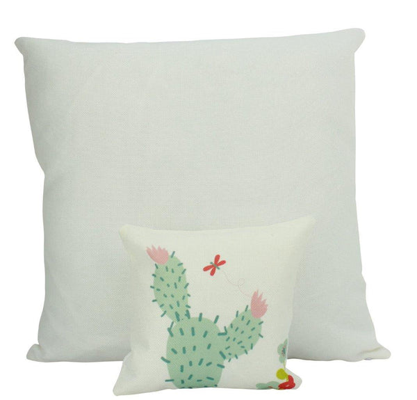 MINI Prickly Green Cactus | Pillow Cover | Good Vibes Only | Cactus Pillow | Positive Vibes