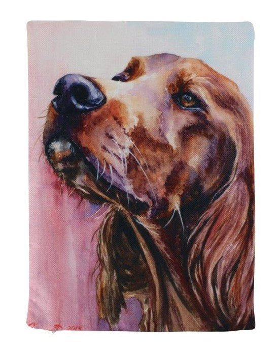 Irish Setter Watercolor | Pillow Cover | Dogs | Home Decor | Custom Dog Pillow | Dog Mom |Irish Sett