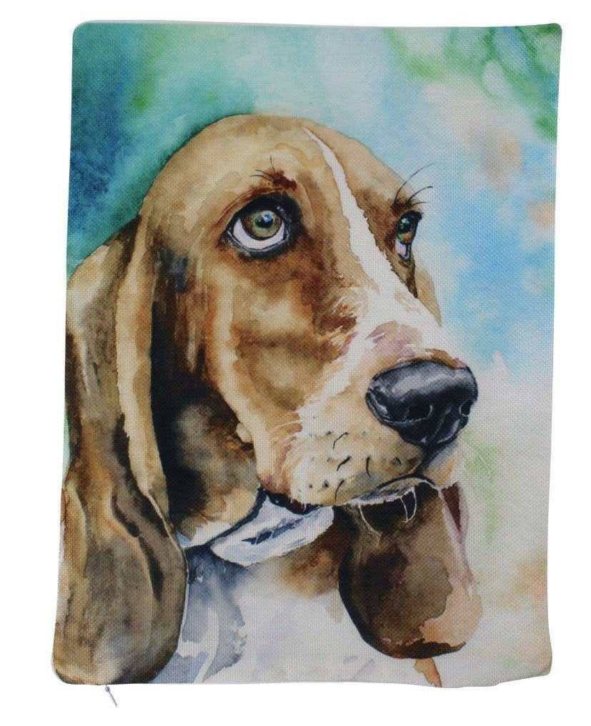 Bassett Hound Watercolor | Pillow Cover | Dogs | Home Decor | Custom Dog Pillow | Dog Mom | Hound