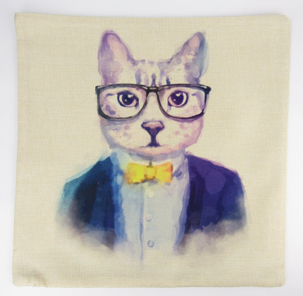 Cats | Hipster | Pillow Cover | Throw Pillow | Cat Gift | Home Decor | Cute Throw Pillows | Best Throw Pillows | Unique Decorative Pillows