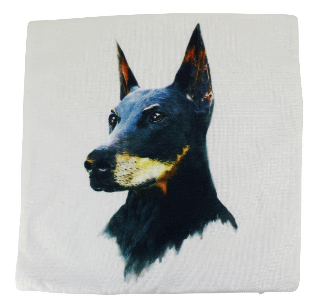 Dobermann  | Pillow Cover | Gift for Dog Lover | Throw Pillow | Home Decor | 18 x 18 Pillow| Best