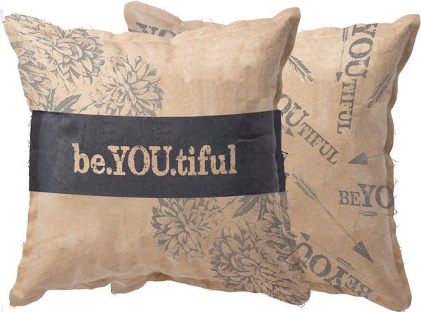 Beyoutiful | Pillow Cover | Be You tiful | Throw Pillow | Be Youtiful Quotes | 14 x 14 Pillow | Home