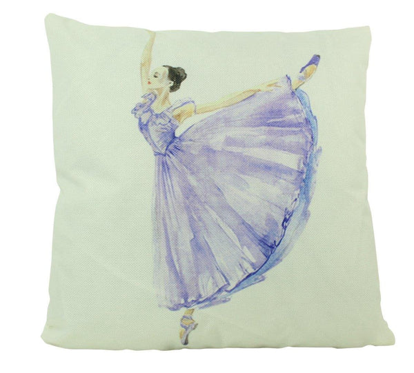 Ballerina | Pillow Cover | 18 x18 | Throw Pillow | Girls Gift | Blue Ballerina | Dancing | Dancer