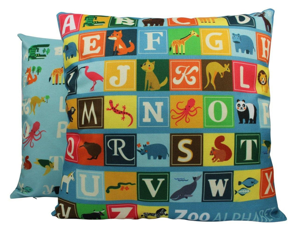 Alphabet | Pillow Cover | Nursery Decor | ABC | Throw Pillow | Alphabet Letters | Boys Gift | Girls