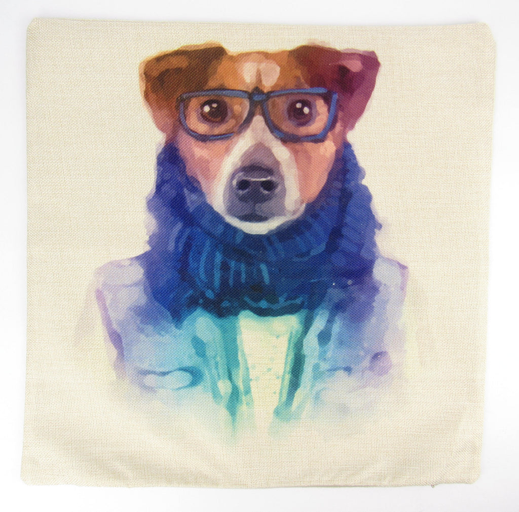 Dog | Dog Hipster | Pillow Cover | Dog Pillow | Throw Pillow | Home Decor | Dog Pillow Case | Hipster |   Dog Mom Gift | Dog Lover Gift
