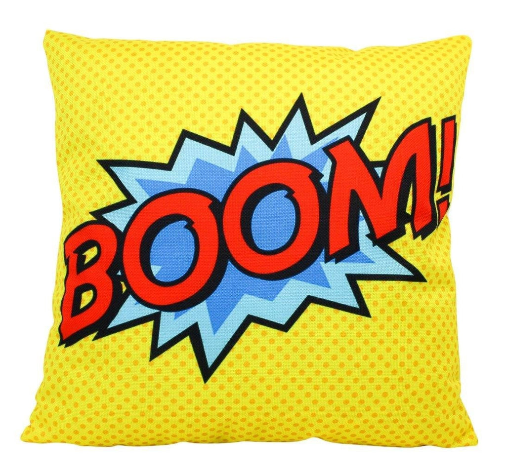 BOOM | Pillow Cover | Super Hero | Anime | 18 x 18 Pillow | Throw Pillow Cover | Home Decor | Boys