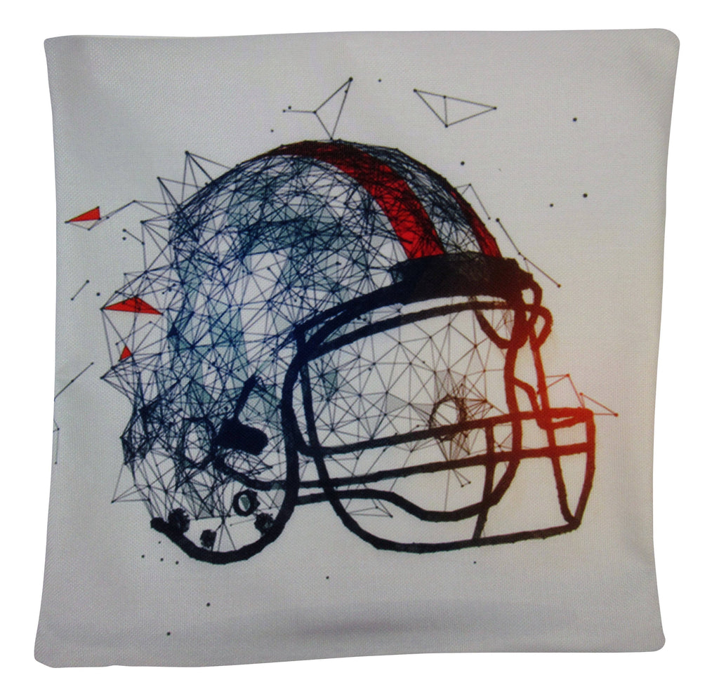 Football Helmet | Football Fabric | Football Decor | Football Gifts | Football Coach Gift | Dad Gift | Throw Pillow Covers | Room Decor