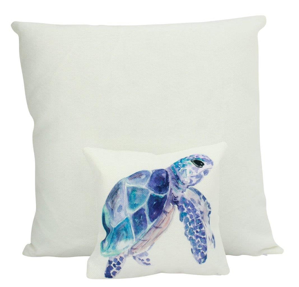 MINI Sea Turtle | Cover and Insert  | 8 x 8 | Under the Sea | Throw Pillow | Home Decor | Modern | Tiny House Decor | Lumbar Pillow
