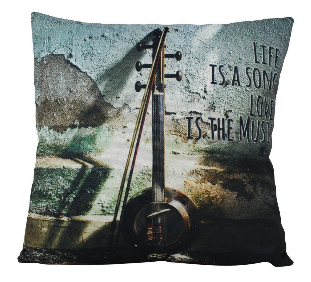 Music Lover | Life is the song love is the music | Pillow Cover | Home Decor | Throw Pillow | Gift | Music decor | Music Gifts