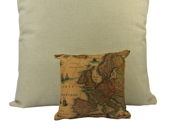 MINI: Map Pillow | Rustic Map | Pillow Cover | Map Print | Throw Pillow | Home Decor | Adventurer