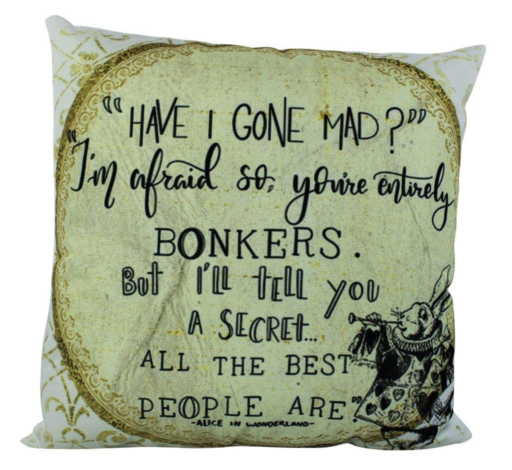 Wonderland Rabbit | Pillow Cover | Alice | Home Decor | Throw Pillow | Mad Hatter Pillow | Cheshire