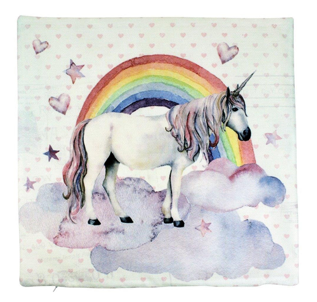 Rainbow Unicorn | Pillow Cover | Believe in Magic | Throw Pillow | Girls Gift | Home Decor | Unicorn Pillow