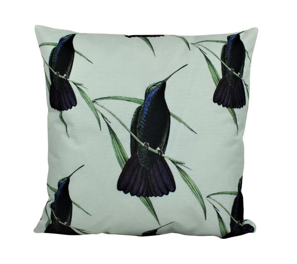 Humming Bird Pillow Cover | Bird Lover Pillow | Farmhouse Decor | Home Decor | 18 x 18