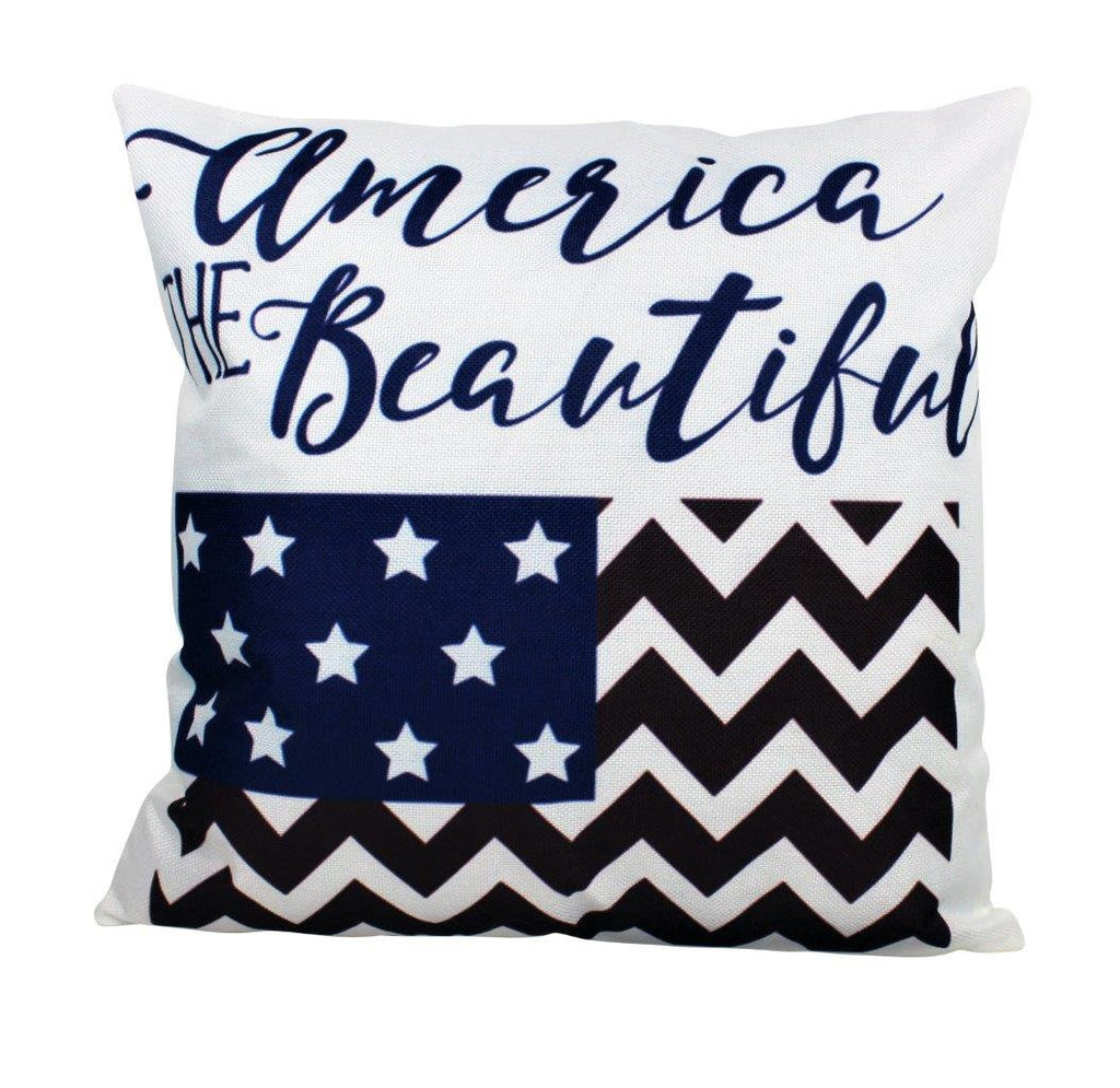 America the Beautiful | Pillow Cover | Home Decor | Freedom | This is America | American Flag | Room Decor | Throw Pillow | Gift Idea