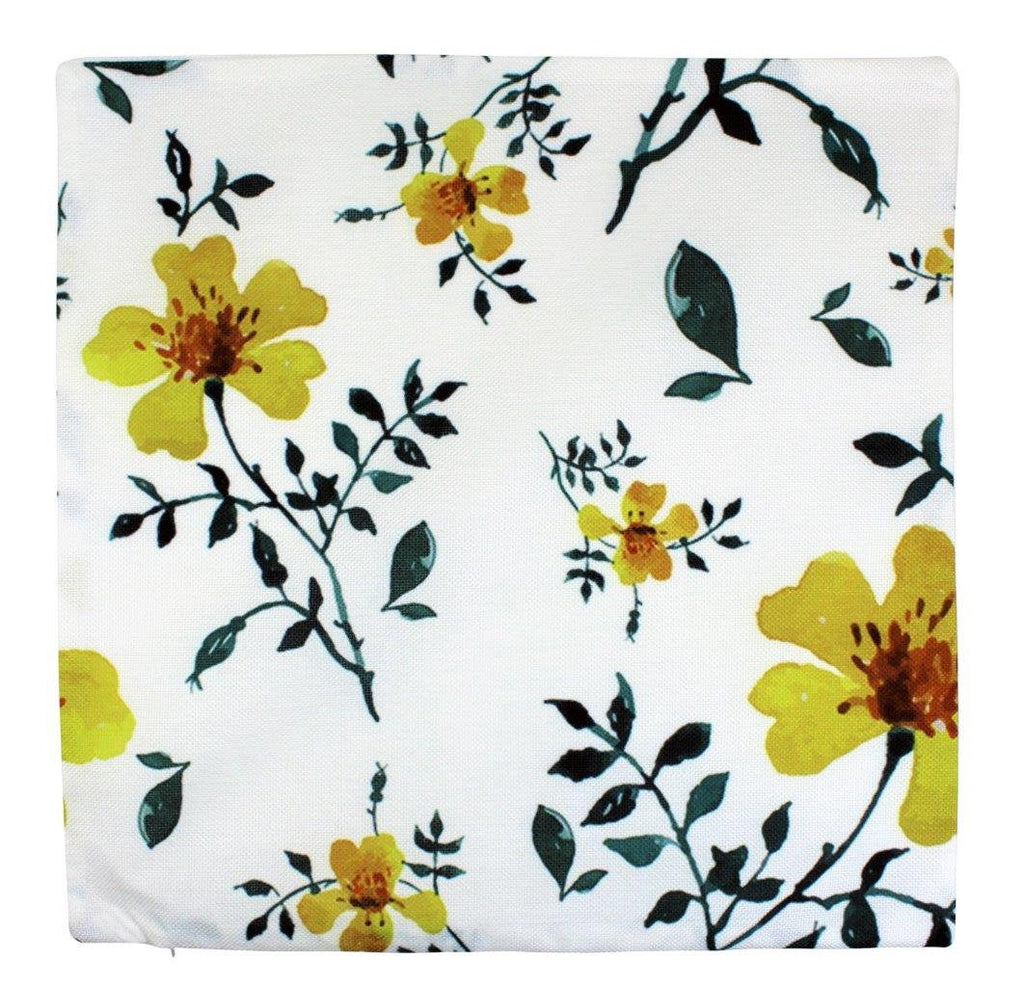 Yellow Flowers Pillow Cover | Flower Pattern | Farmhouse Decor | Home Décor