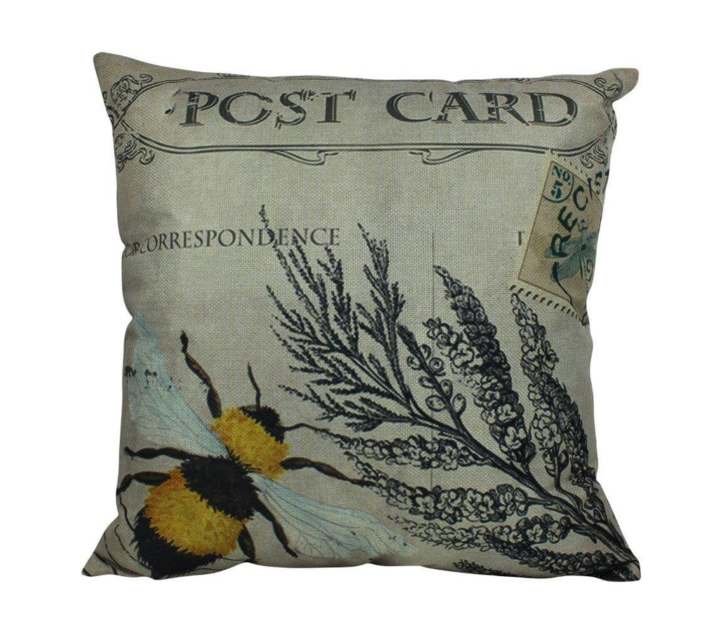 Vintage Bee Pillow Cover | Honey Bee Pillow | Farmhouse Decor | Home Décor | Insect Pillow