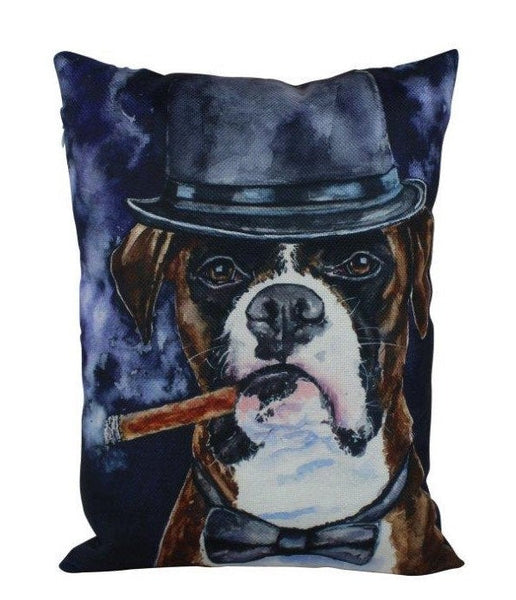 Mr Boxer Watercolor | Pillow Cover | Dogs | Home Decor | 16 x 12 Throw Pillow | Dog Mom