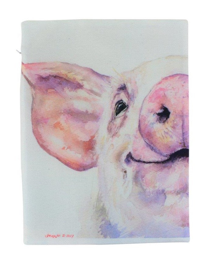 Farmhouse Pig | Pillow Cover | Farm Animal | Home Decor | Country Farm Pillow | 16 x 12