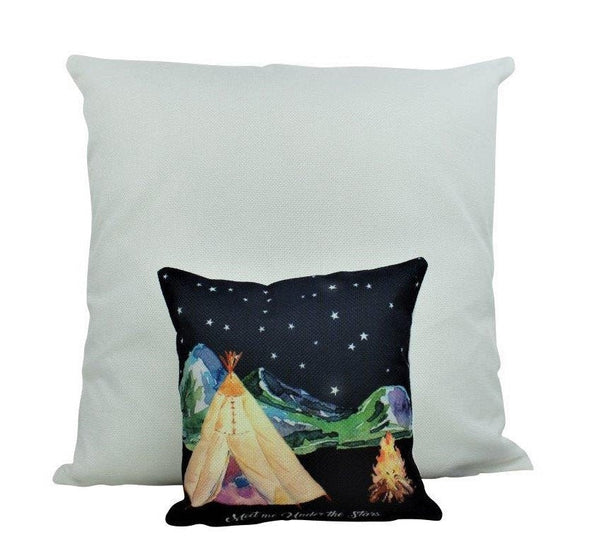 MINI: Adventure Time | Pillow | Wanderlust | Throw Pillow | Under the Stars | 8x8 inch
