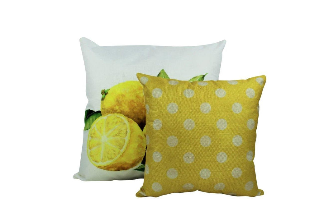 Yellow and white Polka Dots | 12x12  Pillow Cover | Solid Accent Pillows | Polka Dot Pillow