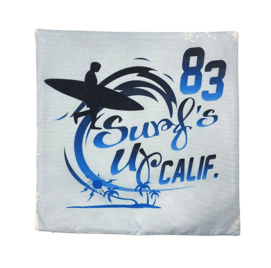 California Surf's Up 83 | Pillow Cover | Southern California Surfing | Throw Pillow | Camper Gifts | Camper Decor | Gift Ideas | Surfing