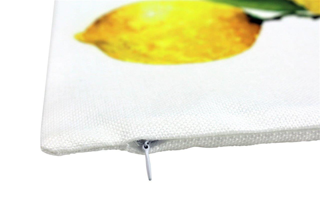 Lemons Lumbar Branch | 9x18 Pillow Cover | Yellow Lemons | Fruit Pillow | Summer Design