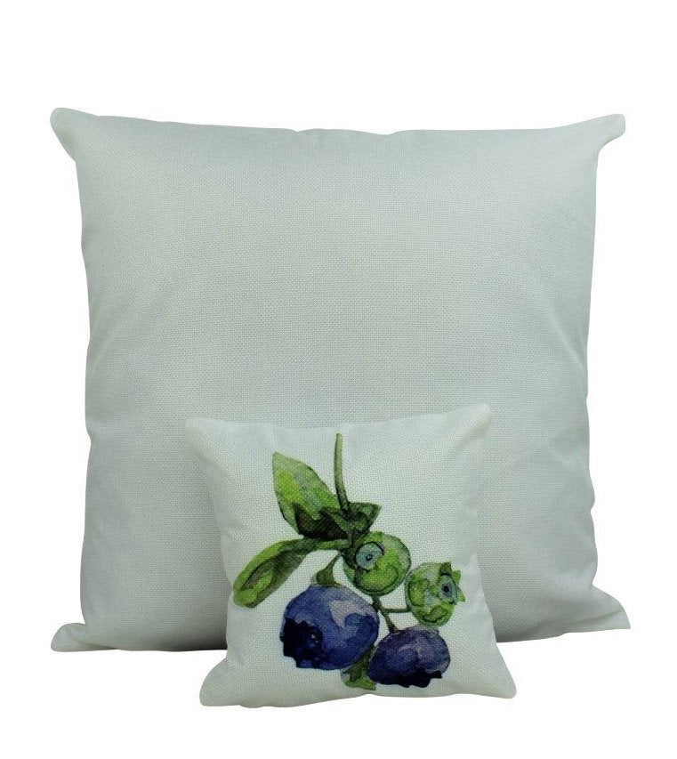 MINI: Blueberry | 8 x 8 | Blue Fall Fruit | Summer Design | Accent Pillow | Berries | Tiny House Decor | Lumbar Pillow